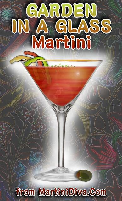 GARDEN IN A GLASS MARTINI Cocktail Recipe
