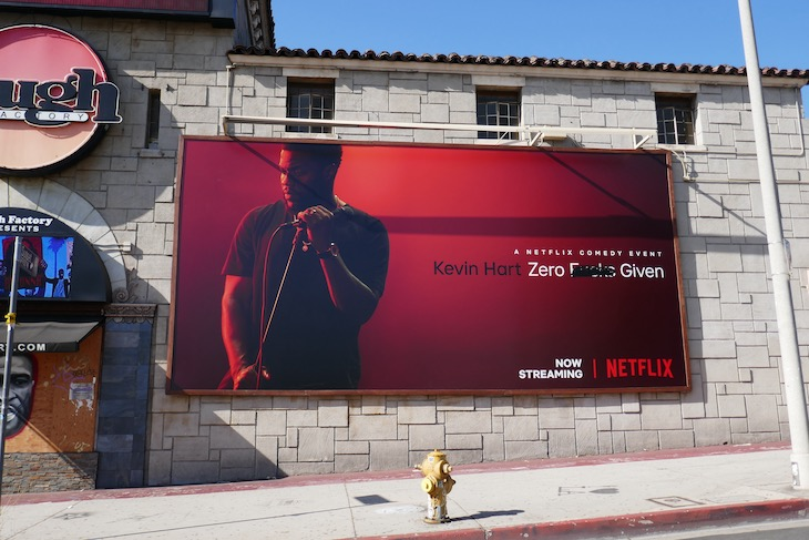 Kevin Hart Zero Fks Given Netflix billboard