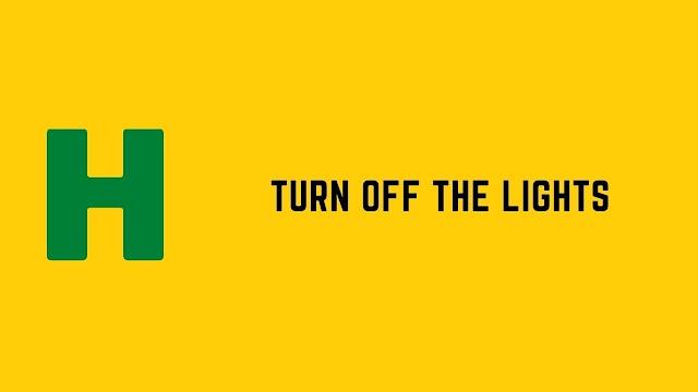 HackerRank Turn Off the Lights problem solution