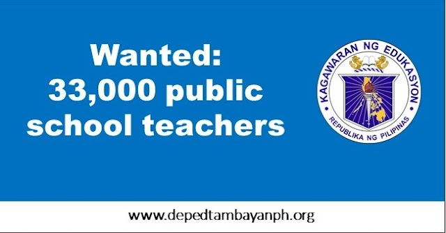 Wanted: 33,000 public school teachers
