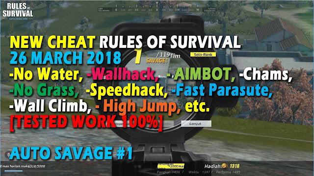 Cheat Rules of Survival Treonin 3.0 Update 26 Maret 2018