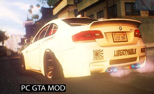 Free Download 2013 BMW M3 E92 Liberty Walk Performance Mod for GTA San Andreas.