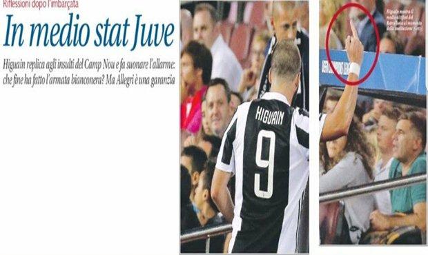 هجوايين سوف يعاقب من UEFA بتصرف غير أخلاقي فى مباراة برشلونه ويوفنتوس