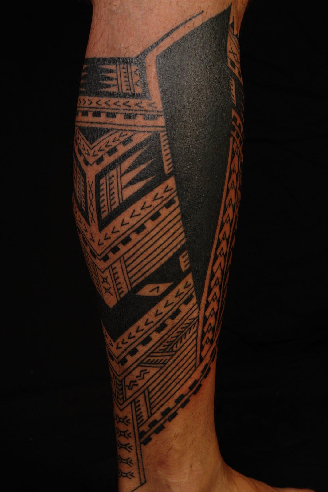 Samoan Tattoo: SHANE TATTOOS: Samoan Polynesian Calf Tattoo