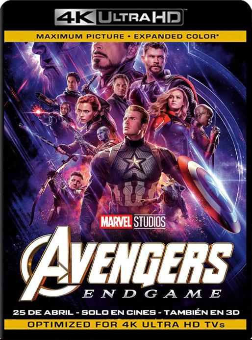 Avengers: Endgame (2019) 4K 2160p UHD [HDR] Latino [GoogleDrive]