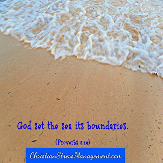 God sets the sea its boundaries. (Proverbs 8:29)