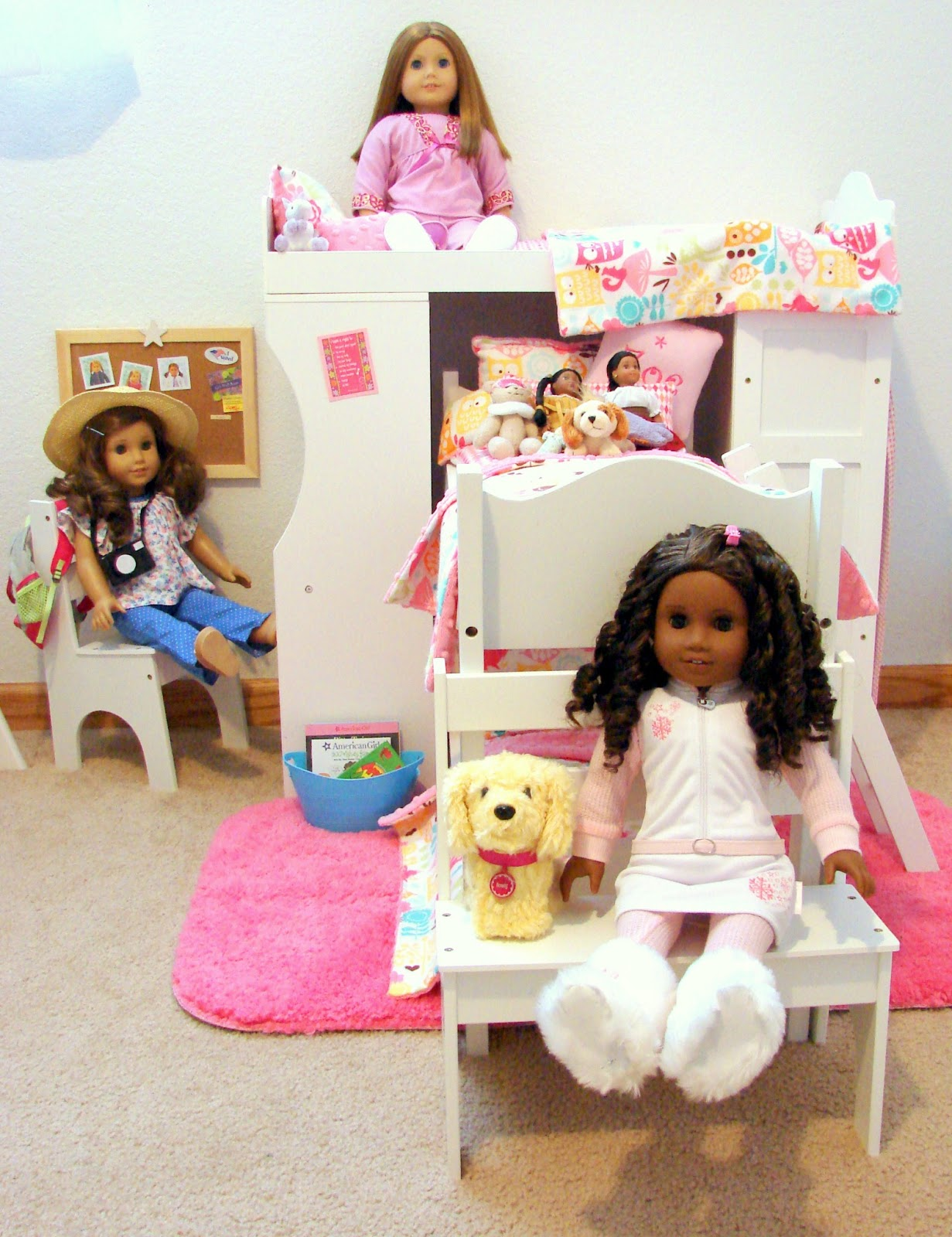 American Girl Doll Play: Our Doll Play Area - The Doll Bedroom