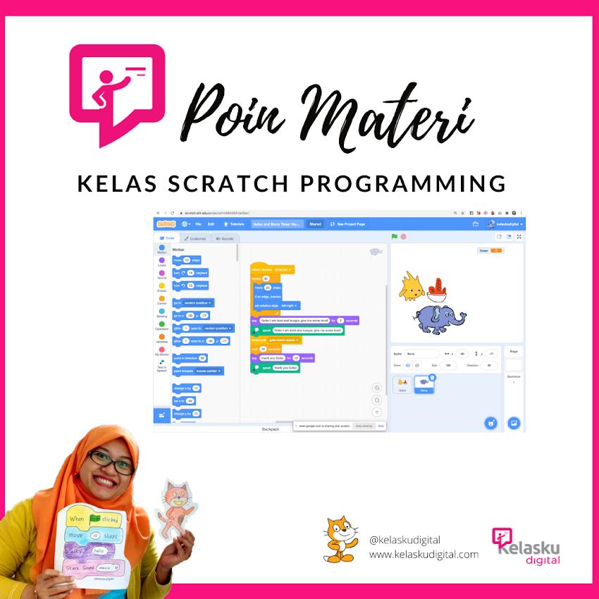 Poin Materi Kelas Coding Scratch Programming