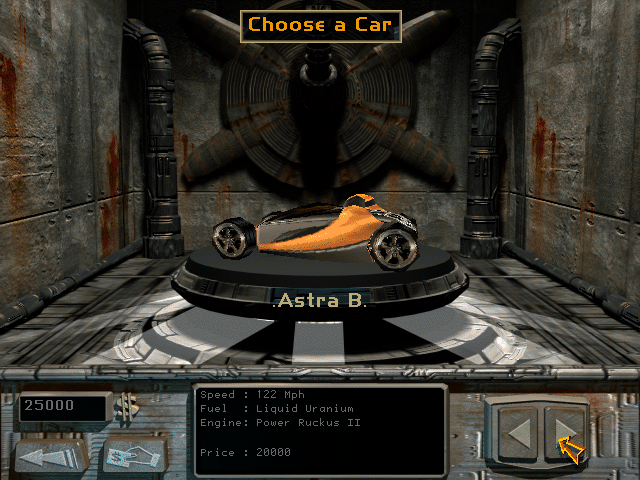Screenshot from MegaRace 2 of the Astra B