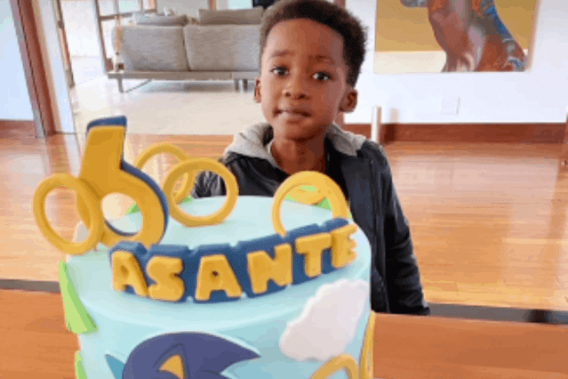 Black Coffee and Enhle Mbali's son, Asante. Picture: Screengrab, Instagram