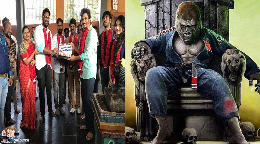 Jiiva next movie gorilla ,Shalini Pandey