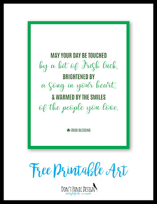 Free Printable Art, Irish Blessing Poster, Free Poster, St. patrick's Day poster, St. Paddy's Day
