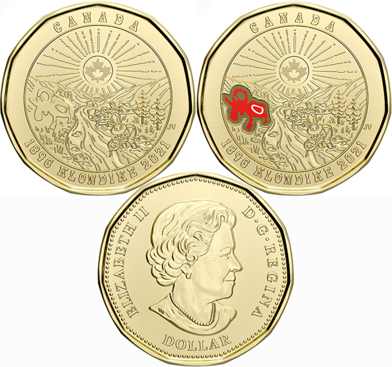Canada 1 dollar 2021 - 125th Anniversary of the Klondike Gold Rush
