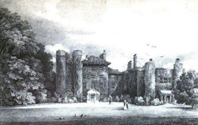 The Oaks from Select Illustrations of the County of Surrey by GF Prosser (1828)