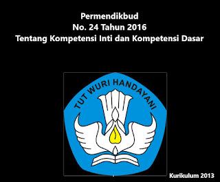 Permendikbud No. 24 Tahun 2016 Tentang Kompetensi Inti dan Kompetensi Dasar