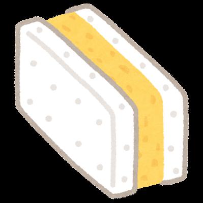 厚焼きタマゴサンドのイラスト