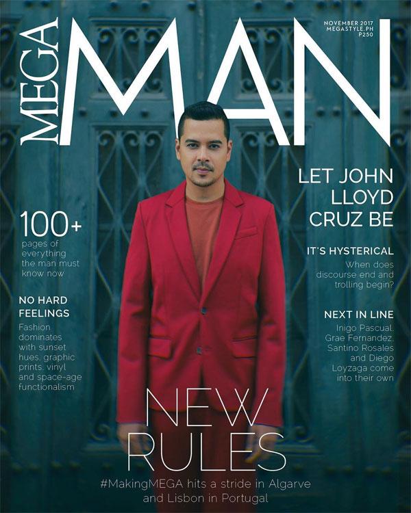 John Lloyd Cruz is the coverboy of Mega Man magazine this November