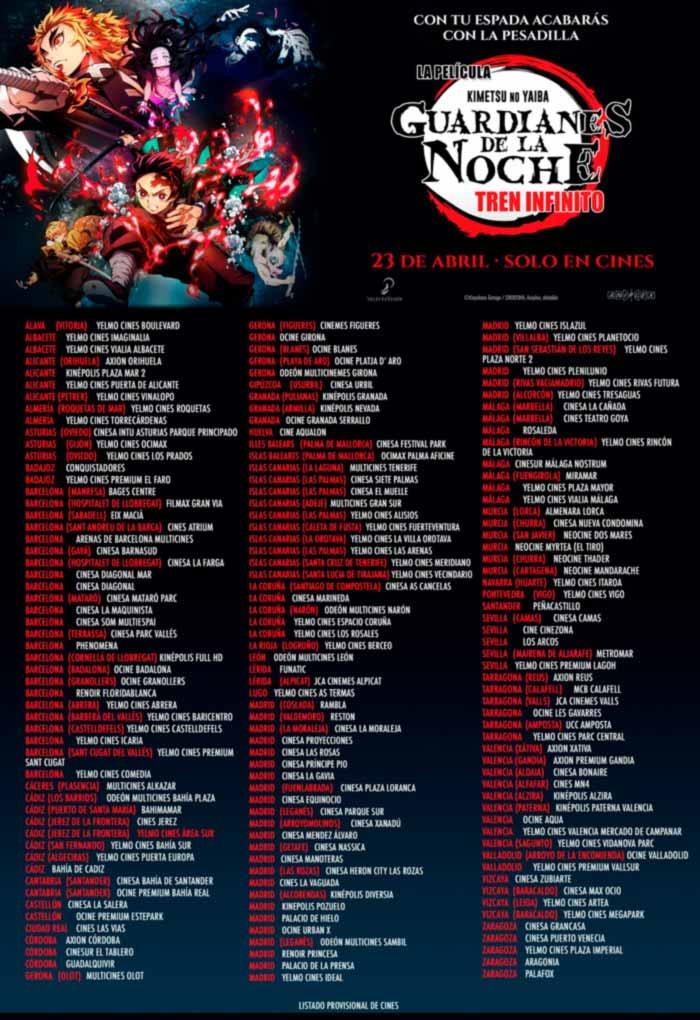 Guardianes de la noche: Tren infinito (Kimetsu no Yaiba: Mugen Train) anime film - Selecta Visión - cines