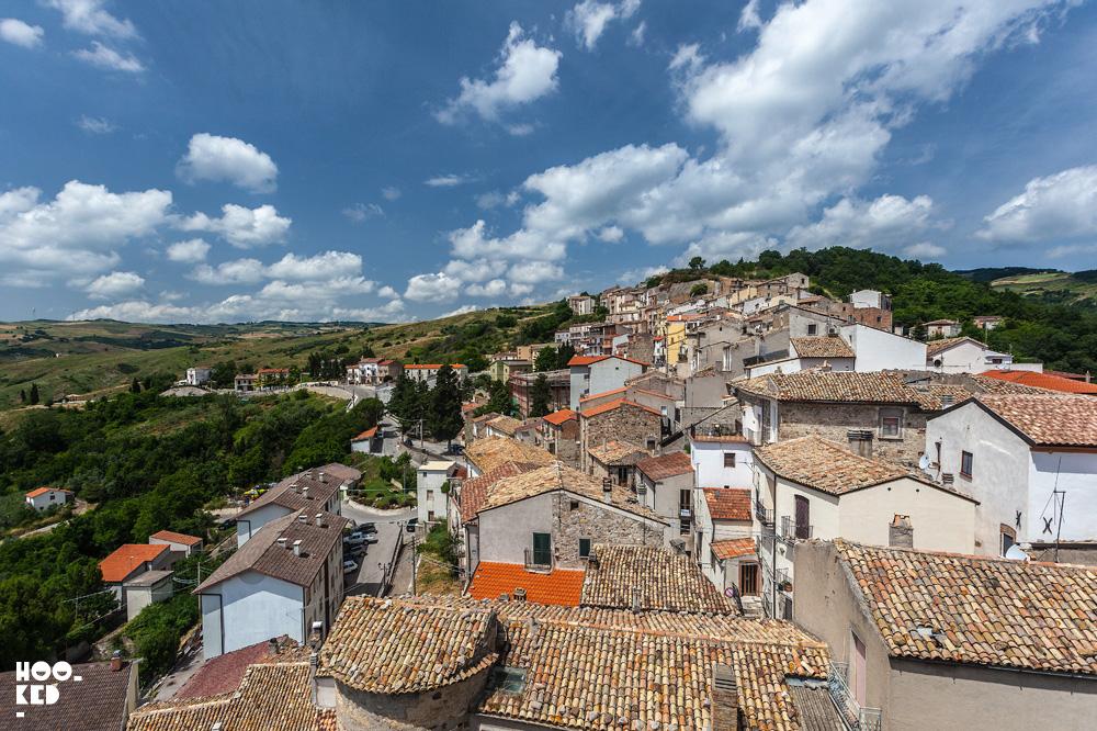 Overlooking the beautiful town of Civita Campomarano, Italy