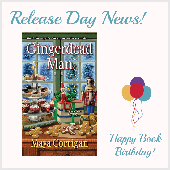 Mystery Lovers Kitchen Release Day News Gingerdead Man By Maya Corrigan