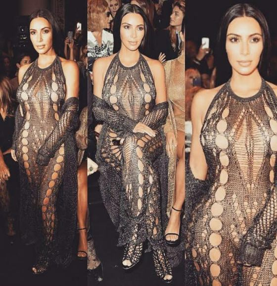 Kim Kardashian looks naked in see-through dress to Balmain