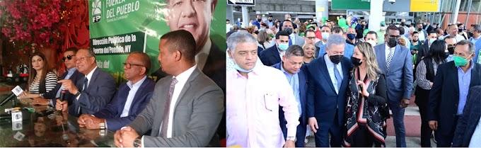 Leonel juramentará en EEUU 4,500 nuevos miembros de Fuerza del Pueblo procedentes de varios partidos