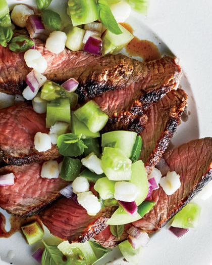 How to Make Seared Cajun Style Steak with Green Tomato Relish
