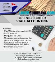 Urgently Required at Multi Mustika Agung Surabaya Juni 2020