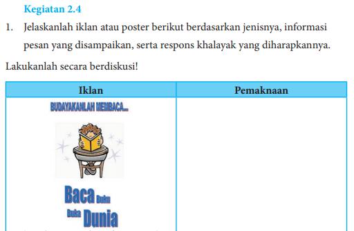 Jawaban Buku Bahasa Indonesia Kelas 8 Kegiatan 2 4 Hal 37 38 Jelaskanlah Iklan Atau Poster Pentium Sintesi