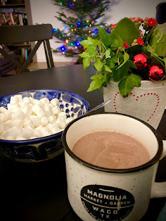 Spiced Stovetop Hot Chocolate and Homemade Ornament at Miz Helen's Country Cottage