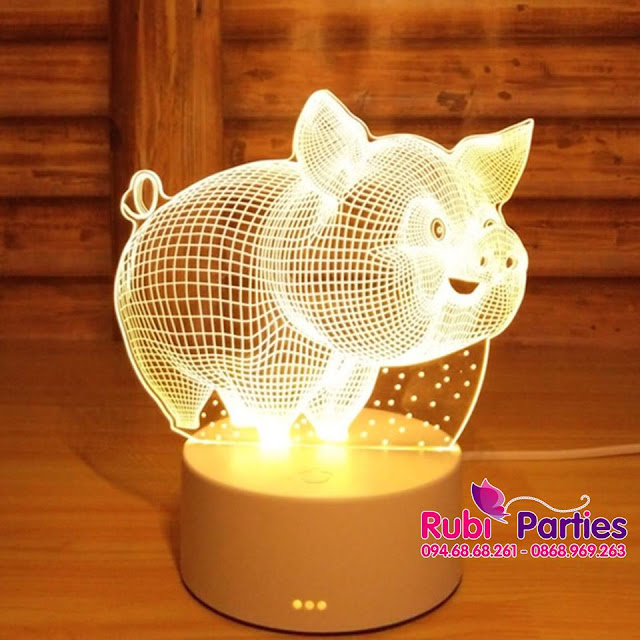 DEN LED 3D HINH CON LON (761)