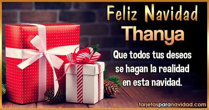 Feliz Navidad Thanya