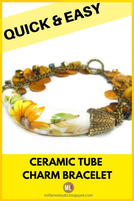 Cheery yellow charm bracelet inspiration sheet