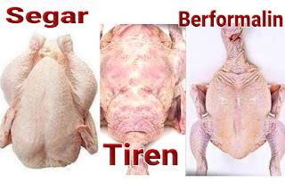 memilih daging ayam segar,memillih ayam yang baik,ciri ayam berformalin,ciri ayam tiren,Ciri ayam tidak layak konsumsi,cara memilih ayam yang segar