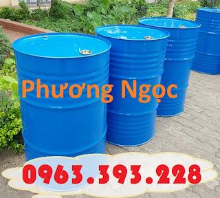 Thùng phuy sắt 220L nắp kín, thùng phuy đựng dầu, thùng phuy 2 nắp nhỏ Df163016b8285c760539