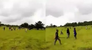 Hundreds Of Youths Chase Fulani Herdsmen Away From Their Community In Imo (Video)