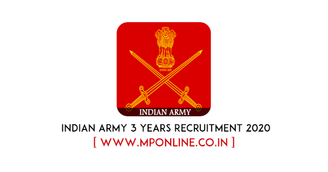 Indian Army 3 Years Tour Of Duty, Voluntary Job Proposal 2020
