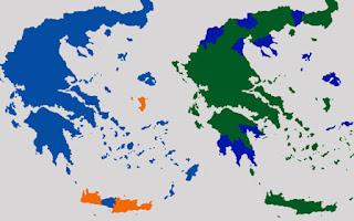 Όλοι οι χάρτες των εκλογών από τη μεταπολίτευση