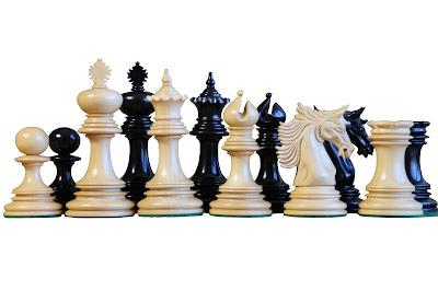 Excalibur Ebony Chess Pieces