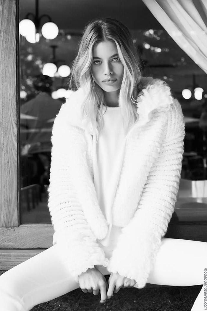 Sacos invierno 2019 moda tejidos.