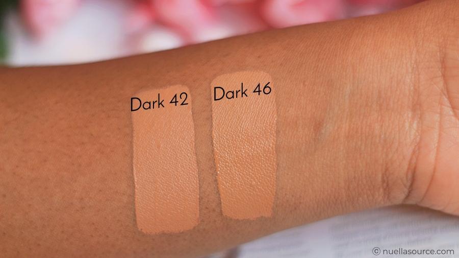 Colourpop no filter concealer dark 42 dark 46 swatches