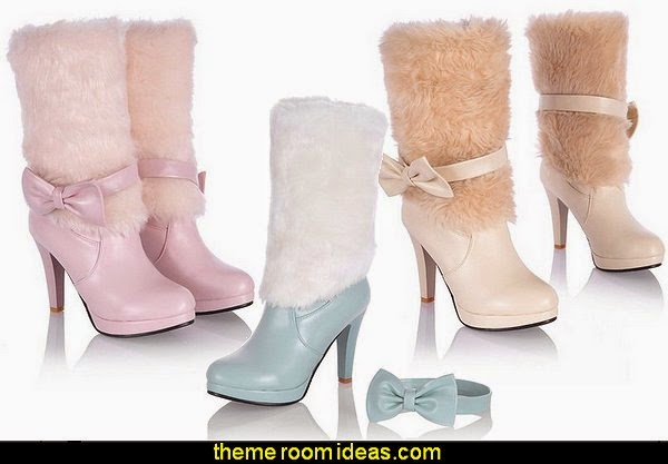 Women's Sweet Style Colorant Match Stiletto Ankle Boots with Bowknot