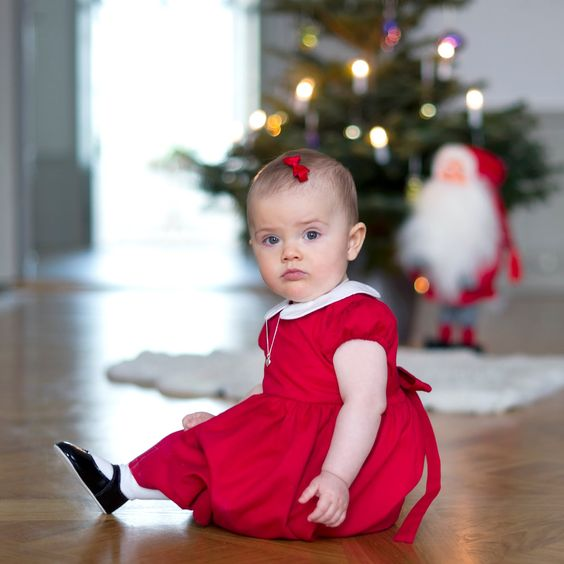 The Swedish Royal Family published two new pictures of little Princess Estelle, taken at Haga Palace