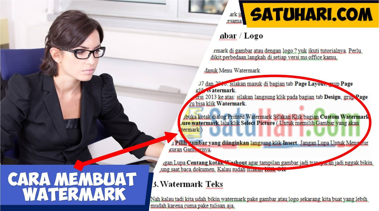 5 Cara Membuat Watermark Teks Gambar Dan Logo Di Ms Word Menghapus