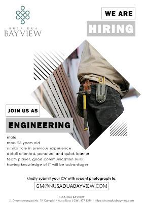 Lowongan pekerjaan Nusa Dua Bay View engineering 2020