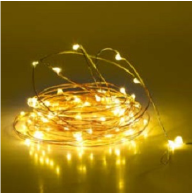 MANSAA 1 Warm White 10 Meter 100 LED USB String Light for Decoration (Made in India)