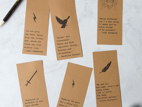 Printable Harry Potter Quote Bookmarks Set 2