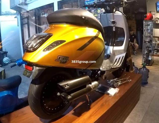 Modifikasi Vespa Sprint 150 Jadi 250 Super Hedon Habiskan Dana 300 jt an