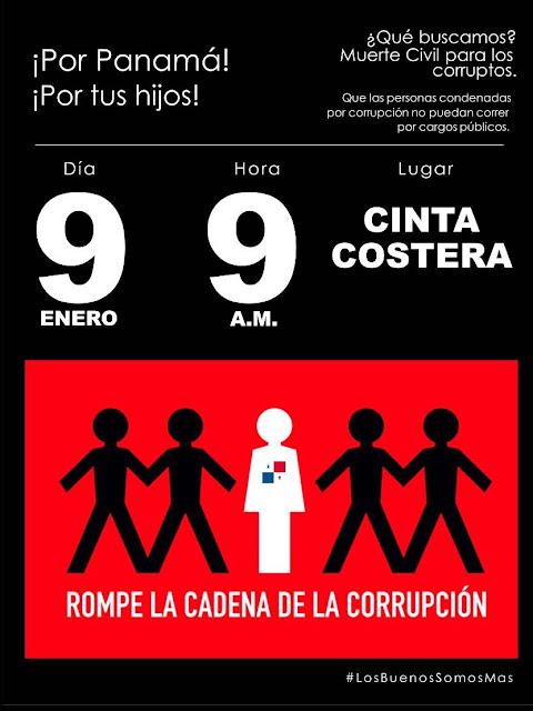 ¡Por Panamá!  Muerte civil para los corruptos