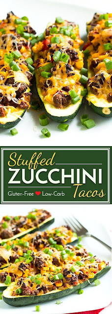 Stuffed Zucchinis With Taco Filling